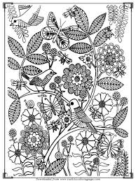 Bird Adults Coloring Pages Printable For Elderly