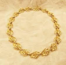 Necklace Napier Gold Tone Leaf Design 1988 Vintage Costume