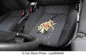 tache siege voiture voiture frire francais siège désordre renversé a photos de
