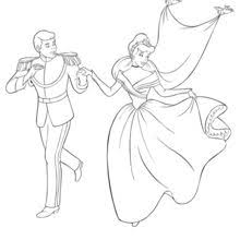 Cinderella And The Prince Coloring Page