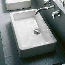 duravit 04556000001 vero 23 5 8 rectangular basin without overflow