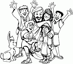 Shining Jesus Loves The Little Children Coloring Pages With