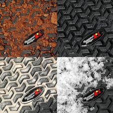 Jeep Jk Rugged Ridge Floor Liners by Amazon Com Rugged Ridge All Terrain 12920 01 Black Front Row