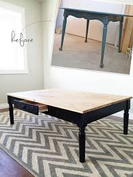 ana white turned leg coffee table with apron drawer diy projects