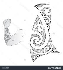 Polynesian Forearm Tattoo Designs Maori Style Design Fit Stock Illustration 124648807 Photo