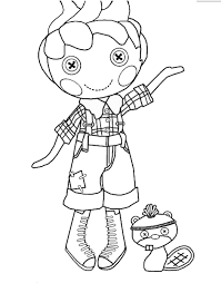 Lalaloopsy Coloring Page Boy Pages To Print Picture