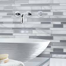 Peel And Stick Metal Tile Backsplash Smart Tiles The Home Depot In