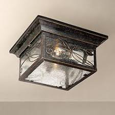 outdoor flush mount lighting fixtures for patio or porch ls