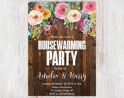 House Warming Party Invitation Home Sweet Rustic Housewarming Printable