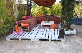 Wood Pallet Backyard Ideas Wooden Deck With Furniture Patio