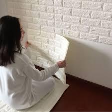 New 3D Foam Stone Brick Self Adhesive Wallpaper DIY Wall Sticker Panels Decal In Home