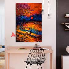 details zu leinwand bilder sonne malerei wie gemalt wandbilder wohnzimmer akustikbild