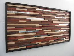 Wood Wall Art With Metal Modern Abstract Painting