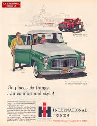 1960 International Models B-110 Pick-Up And B-160 Stake Model Trucks ...