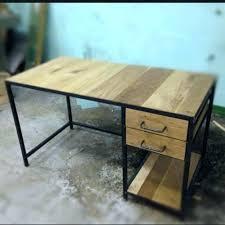 bureau en m al bureau bois metal mal grand blanc bim a co