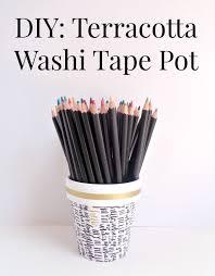 Halloween Washi Tape Ideas by Diy Terracotta Washi Tape Pot