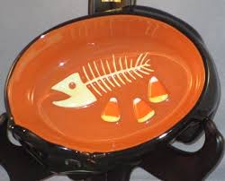 Halloween Candy Dish by Halloween Candy Dish Black Cat Fish Bones Snack Bowl 6 Hallmark