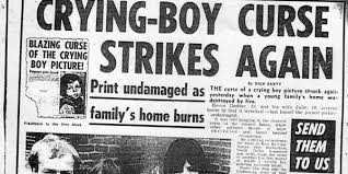 The Next Days Edition Included News Of A House In Surrey That Had Burnt Down Six Months After Boy Was Brought Into It All Paintings Inside