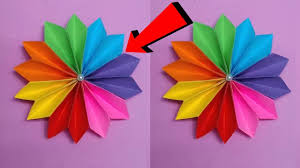 Diy How To Make Easy Beautiful Flower With Colour Paper Making Flowers Step By