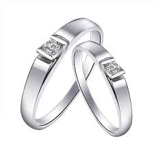 new design fashionable couple wedding ring with daimond High