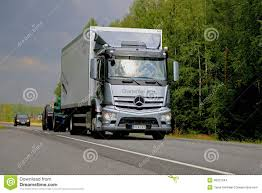 Grey Mercedes-Benz Antos Truck On The Road Editorial Stock Image ...