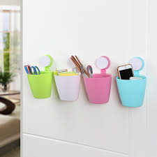 Removable Bathroom Kitchen Wall Strong Suction Cup Hook Hangers Vacuum Sucker Waste Container