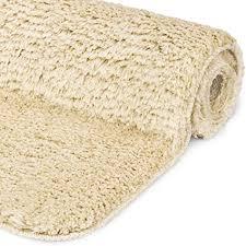 beautissu badematte rutschfest beaumare fl hochflor teppich 60x50 cm shaggy optik natur wc badteppich flauschige bodenmatte oder badvorleger für