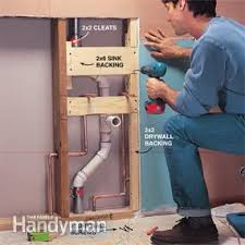 Replacing A Faucet On A Pedestal Sink by How To Plumb A Pedestal Sink Family Handyman