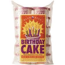 Blue Bell Birthday Cake Ice Cream Cups 12 Ct
