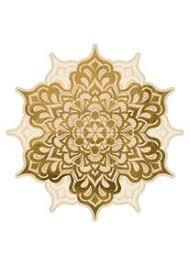 wandtattoo mandala blüte gold muster wandsticker wanddeko