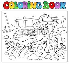 Coloring Book Dinosaur Excavator