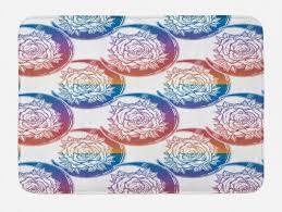 badematte plüsch badezimmer dekor matte mit rutschfester rückseite abakuhaus boho ombre stil mond und kaufen otto