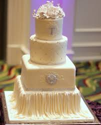 Satin Draping Wedding Cake