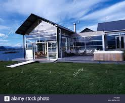 100 Modern Architectural House Lawn And Hot Tub In Front Of Modern Architectural House Beside The