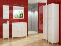 badschrank seitenschrank weiß hochglanz badmöbel mit füßen