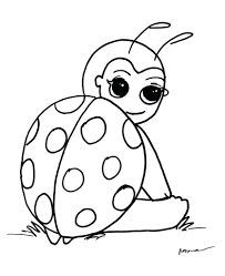 Coloring Pages Ladybugs Printable Of To Print Ladybug Cartoon Full Size