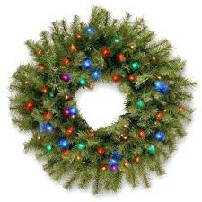 National Tree Company Compare In Fir Artificial Wreath With Battery Operated Led Lights Christmas Trees Uk N