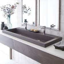 Trough Sink With Two Faucets by Bathroom Sink Wonderful Native Trails Trough Nativestone
