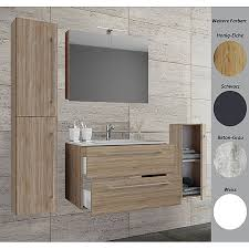 vcm 5 tlg waschplatz badmöbel badezimmer set waschtisch waschbecken schubladen keramik badinos spiegelschrank 5 tlg waschplatz waschtisch badinos