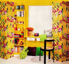January Psychedelic Butterfly Print Privacy Screens And Yellow Walls My Dream Room