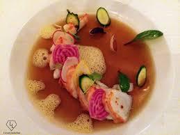 cuisine emulsion lobster cold soup with fruit the subtle emulsion of