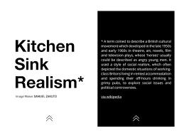 Kitchen Sink Film Wiki by Kitchen Sink Realism U2014 The Unlimited Magazine Interactive