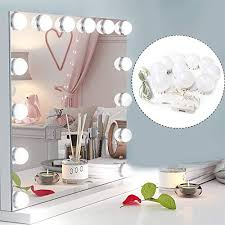 ovonni schminkspiegel mit 12 beleuchtung led licht spiegel