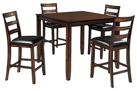 High Dining Room Tables And Chairs by Coviar Counter Height Dining Room Table And Bar Stools Set Of 5