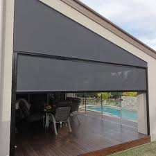 Brisbane Outdoor X Channel Blinds | Aqua Blinds And Screens Outside Blinds And Awning Black Door White Siding Image Result For Awnings Country Style Awnings Pinterest Exterior Design Bahama Awnings Diy Shutters Outdoor Awning And Blinds Bromame Tropic Exterior Melbourne Ambient Patios Patio Enclosed Outdoor Ideas Magnificent Custom Dutch Surrey In South Australian Blind Supplies