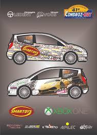 deco voiture de rallye une déco forza horizon 2 pour le rallye du condroz 2014