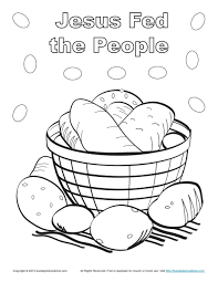 Free Printable Bible Coloring Pages Joseph Fed People Page Easter Jesus Calms The Sea Large