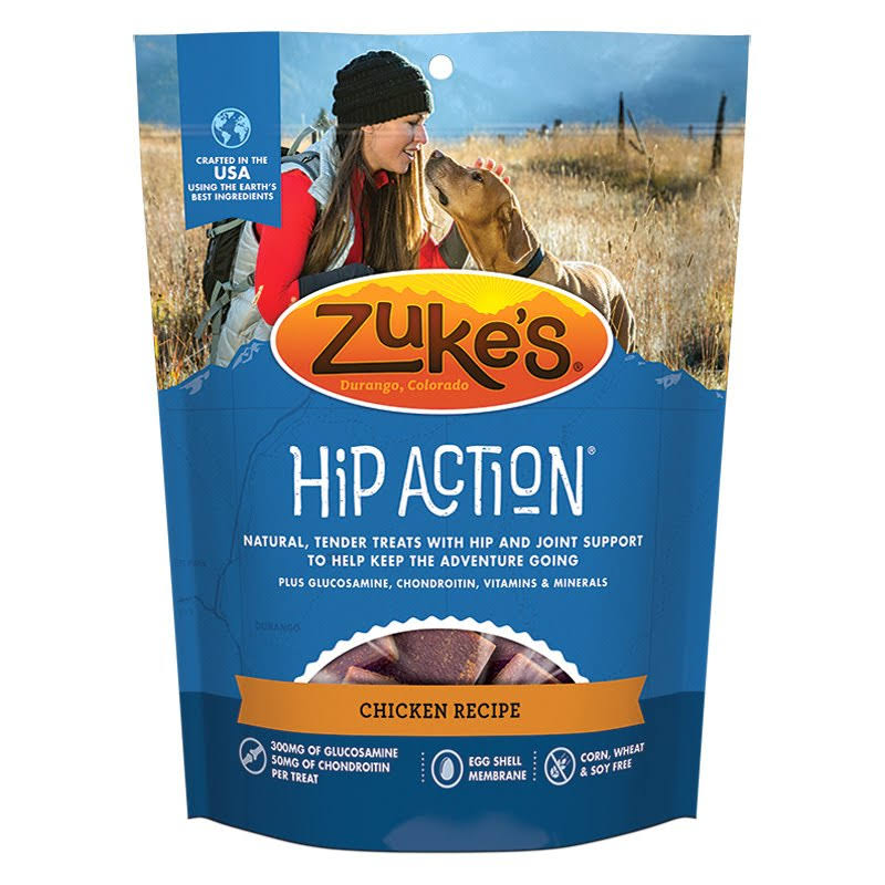 Zuke's Hip Action Natural Dog Treats - Roasted Chicken, 1lb
