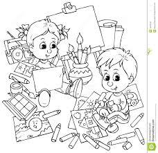 Children draw stock illustration Illustration of sketch