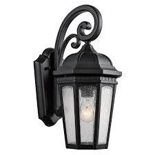 kichler 9033bkt one light outdoor wall mount wall sconces